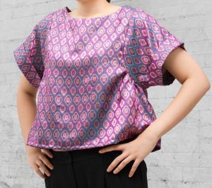 batwing top pink f
