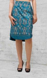 skirt blue parang f