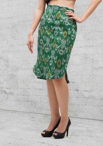 skirt green f