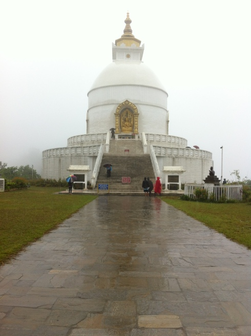 World Peace Pagoda. Huge , peaceful place. Namaste ..