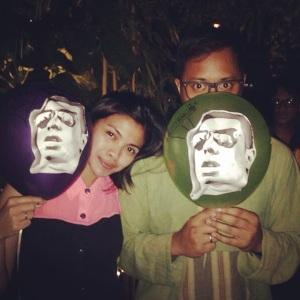 Balon - balon yang di tempel dengan photo printingan style mafioso ala Bapak Bolang.