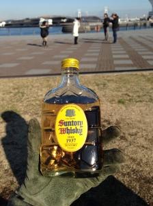 Penolong disaat winter biar anget.. Suntory Whisky yang rasanya light banget.. Nyiams