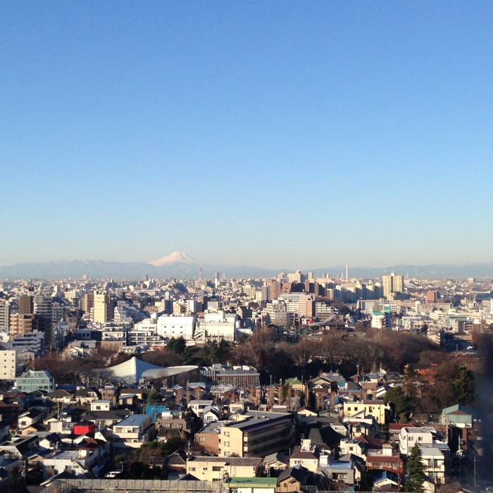 My morning view from 19th floor of Koji-san apartment's
